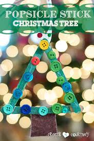 make a popsicle stick tree ornament