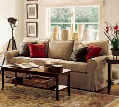 pottery barn livingroom pb tudor upholstered mini sofa two tone carpet pottery barn living