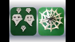 diy halloween quick and easy ghost decoration origami halloween