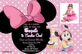 custom minnie mouse birthday invitations stephenanuno com