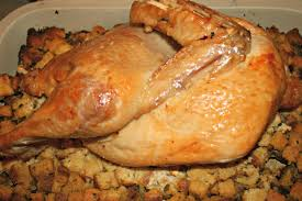 whole cooked turkey recipe cornbread dressing and roast turkey half this