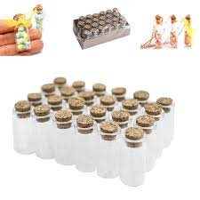 amazon com mini clear glass jars bottles with cork stoppers for