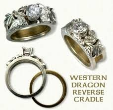 dragon engagement rings images Dragon reverse cradle engagement rings designet international jpg