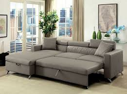 Sofa With A Pull Out Bed Dayna Cm6292 Gray Sectional Sofa With Pull Out Bed