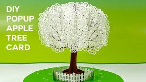 pop up apple tree card tutorial 3d sliceform on the cricut