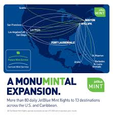 Las Vegas Terminal Map by Jetblue Expands Its Mint Map Again With Plans Set For More Than 80