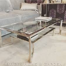 Glass And Chrome Coffee Table Chrome And Glass Dual Level Coffee Table