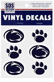 penn state alumni sticker penn state paw and logo decal sheet souvenirs stickers and