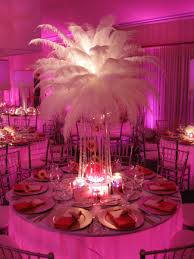 Where To Buy Ostrich Feathers For Centerpieces by White Feather Burst Crystal Beaded Base Centerpieces