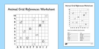 animal grid references worksheet coordinates worksheet