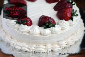 sweet y salado tres leches cake with arequipe whipped cream