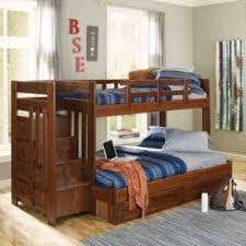 Wooden Bunk Bed With Stairs Solid Wood Bunk Beds With Stairs Foter
