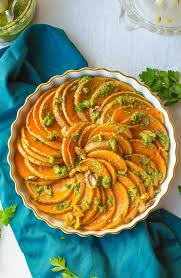 cuisine butternut roasted butternut squash slices with walnuts parsley pesto a