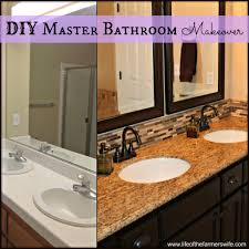 Backsplash Bathroom Ideas by Complete Diy Remodel On A Master Bathroom Including Cabinets