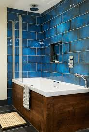 Tile Bathroom Wall Ideas by Best 25 Blue Bathroom Tiles Ideas On Pinterest Blue Tiles