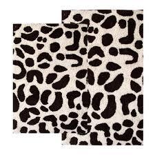 Leopard Bathroom Rugs 2 Leopard Bath Rug Set 21 X 34 And 24 X 40 Chocolate