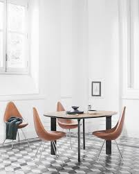 drop chair with leather upholstery fritz hansen