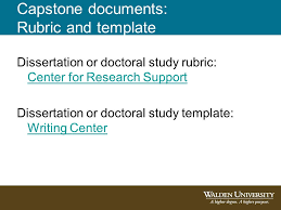 dissertation vs capstone Melanie Brown Ph D Dissertation Editor Writing Center Writing SlidePlayer Capstone documents Rubric and template Dissertation or doctoral study rubric