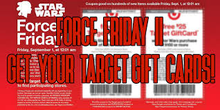 black friday target presale get gift cards at target with your force friday ii purchases