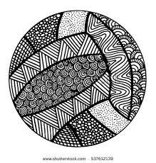 hand drawn volleyball illustration stock vector 537612142