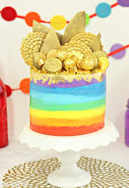 pot of gold rainbow cake sugarhero