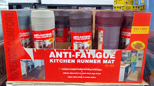 Fatigue Mats For Kitchen Novaform Home Anti Fatigue Kitchen Runner Mat Costco Weekender