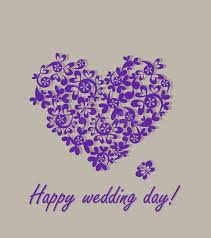 wedding day greetings happy wedding day greeting card with paper heart stock vector