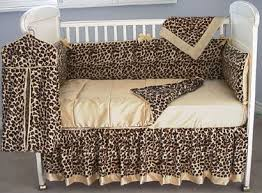 Cheetah Print Crib Bedding Set The Bumper And Crib Skirt Are In Cheetah Velvet With Butter Satin