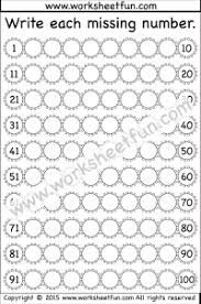 count to 100 free printable worksheets u2013 worksheetfun