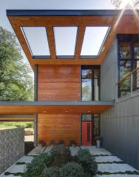 modern home design exterior 2013 half century rancher renovated into large modern 2 story home