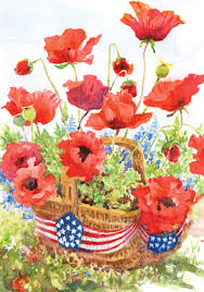 halloween garden flag patriotic poppies flag mad about gardening