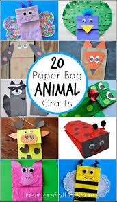 20 paper bag animal crafts for kids animal crafts craft and animal