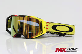 motocross beer goggles oakley new mx airbrake high voltage gold 24k iridium motocross