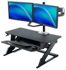 computer desk monitor lift imovr ziplift standing desk converter