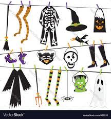 halloween costume clothesline royalty free vector image