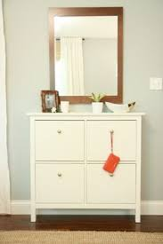ikea shoe cabinet hack styling a small space or office by re purposing an ikea mud room