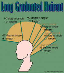 trimming hair angle cut how to cut a long graduated haircut step by step illustrated