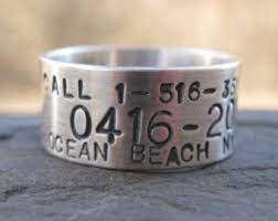 duck band wedding ring custom goose duck band ring sterling silver personalized
