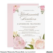 bridesmaids luncheon invitation wording watercolor flowers bridesmaids luncheon wedding bridal