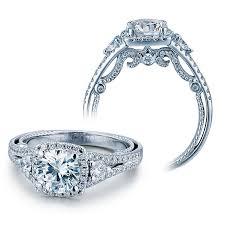 diamond rings verragio engagement rings gold 0 65ctw diamond setting