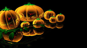 abstract glass pumpkins hd halloween wallpaper