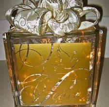 How To Decorate Glass Blocks 365 Best Glass Block Crafts Images On Pinterest Glass Glass