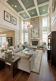 Decorating Ideas For Living Rooms With High Ceilings The Ceiling In This Great Room Greatrooms Homechanneltv