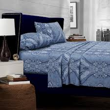knit home decor bedroom awesome dark brown beds with blue patterned jersey knit