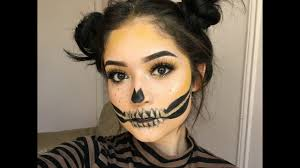 halloween eyelashes easy glitter skull faux freckles halloween 2016 youtube