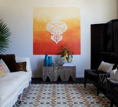 living room all pink design with wall murals and couch resolution cool painting ideas for walls with tape imanada patterns how tos diy to paint an ombre