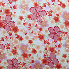 tissus motif paris tissus japonais au mètre avec motifs traditionnels de fleurs