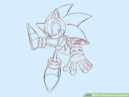 4 ways to draw sonic characters wikihow