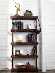 book case ideas reclaimed wood bookcase ideas doherty house wrought iron shelf