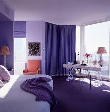 home decoration light purple painted wall purple curtains glass